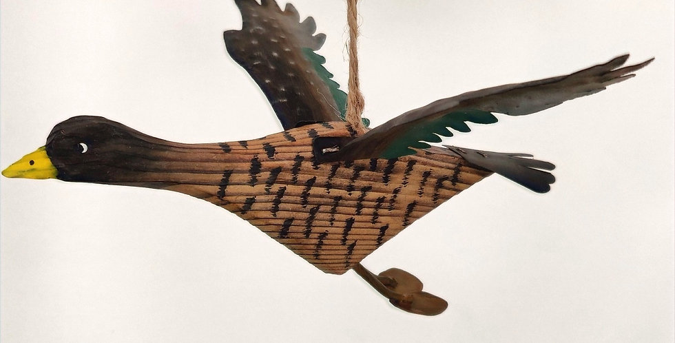 Duck in Flight Ornament