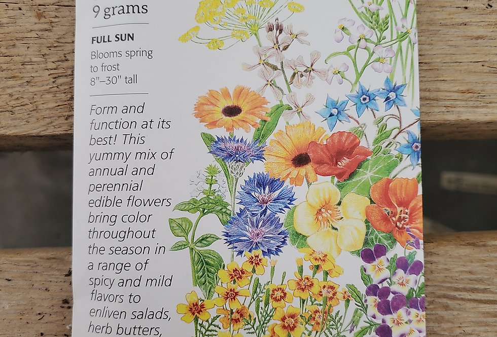 Flower mix edible beauties assorted species large pack