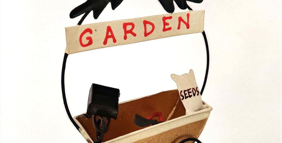 Golden Garden Cart Ornament