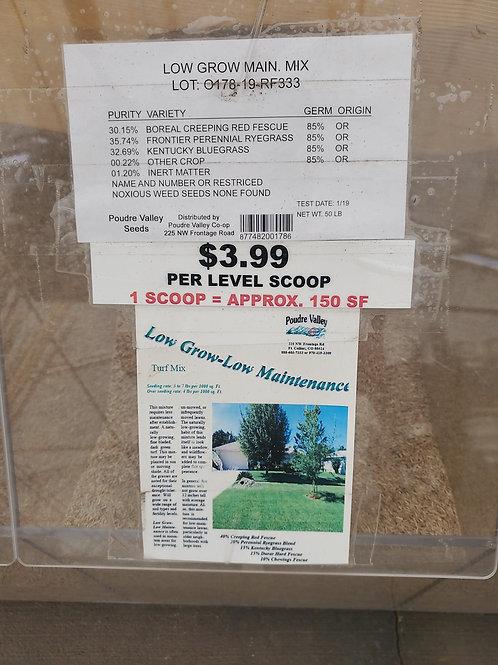 Grass Seed per scoop Low Grow Low Maintenance
