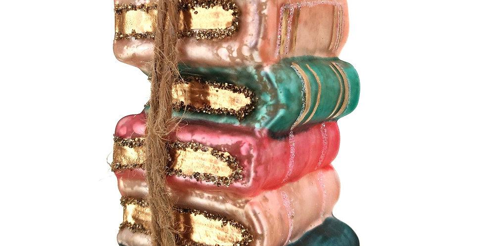 Stack of Books Ornament
