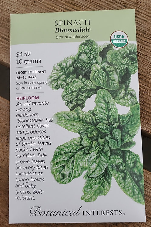 Spinach Bloomsdale Organic Big Pack