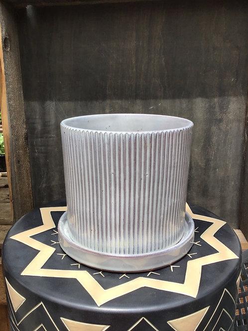 Croix Pot with saucer - 6.25 inch diameter