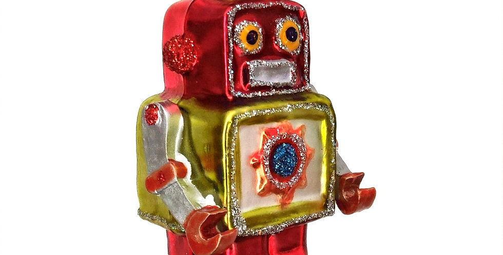 Red Robot Ornament