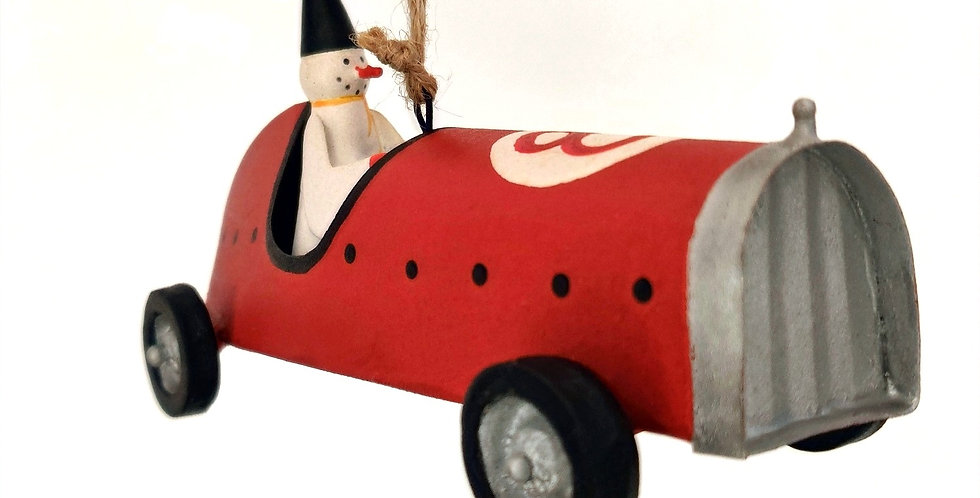 Snowperson Racer #8 Ornament