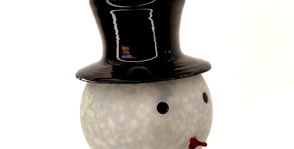 Snowperson with Top Hat Ornament