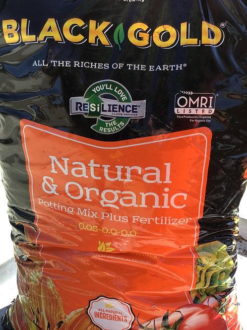 Black Gold Organic Potting Soil plus fertilizer -  2 cubic feet