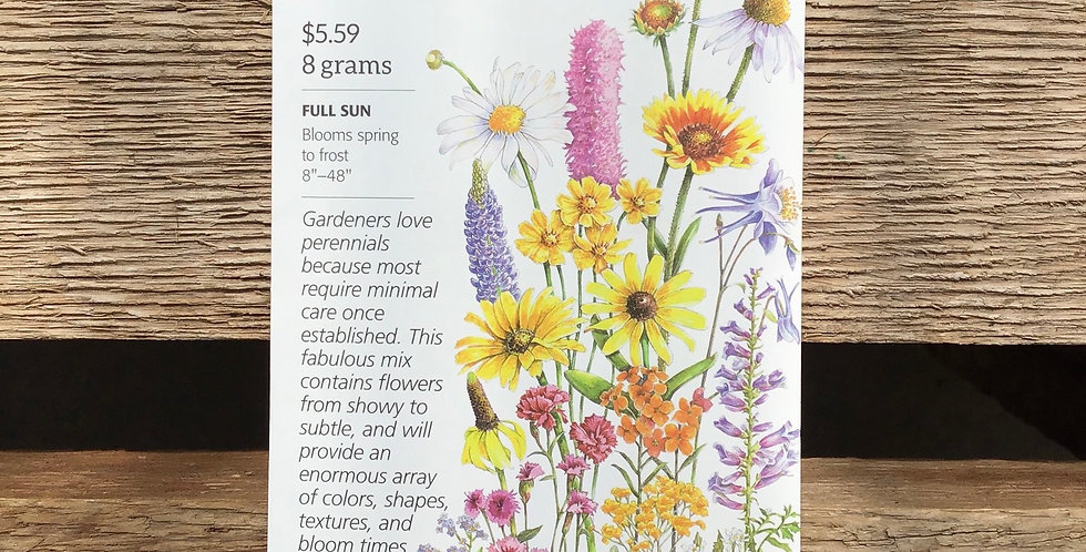 Flower mix perennial bloom large pack