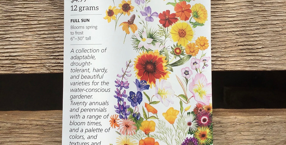 Flower mix water wise garden large pack