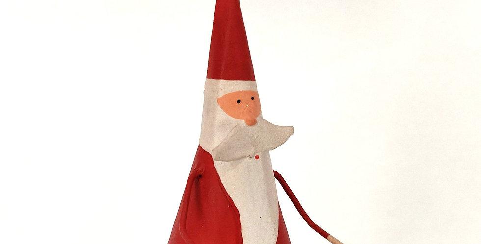 Santa Rounded Bottom Ornament