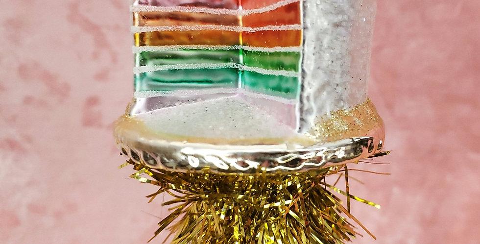 Rainbow Layer Cake Ornament