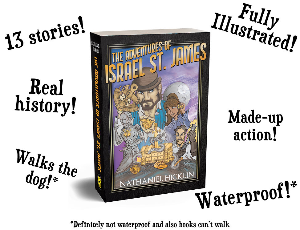 The Adventures of Israel St. James Cover with text