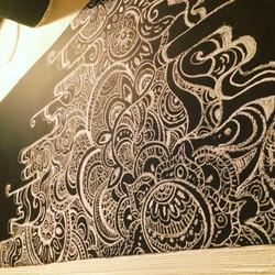 流水紋パターンアート