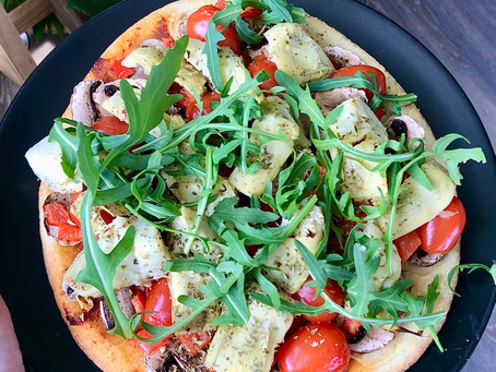 Recept: Veggie-loaded Pizza