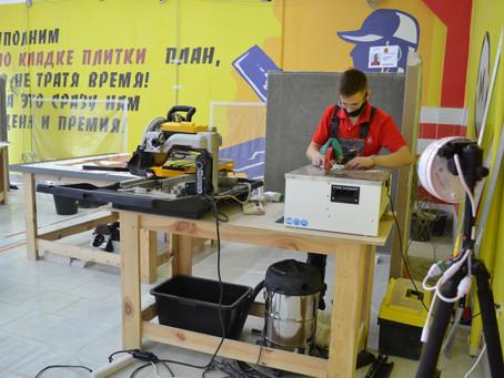 Сегодня первый день соревнований по компетенции «Облицовка плиткой» и «Изготовление прототипов».