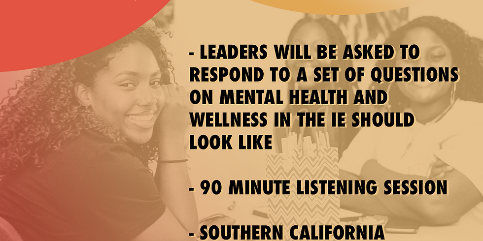 Youth Wellness  Listening Session