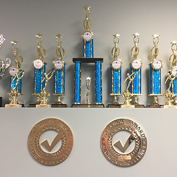 Toronto Dance Industry Inc. awards and trophies photo in studio