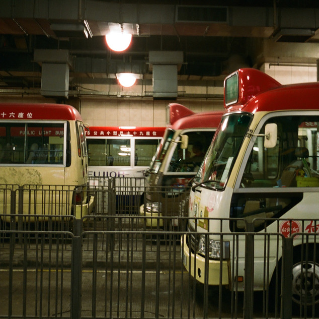 Red mini busses