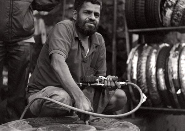 Tuk Tuk mechanic, Haputale, Sri Lanka