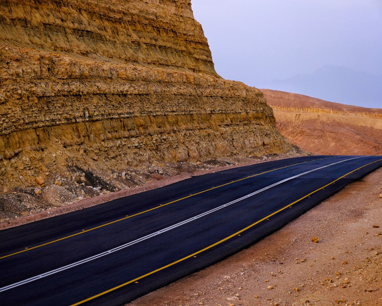 Road Through The Negev Desert, Israel