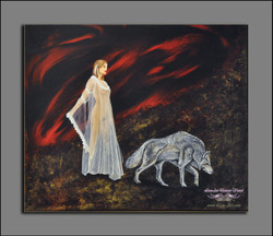 Titre : Elle et son loup