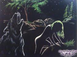 Titre:La femme & L'appel du loup.