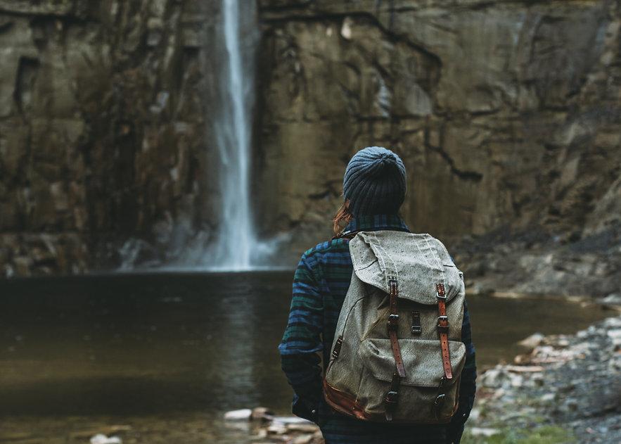 Overlooking Waterfall