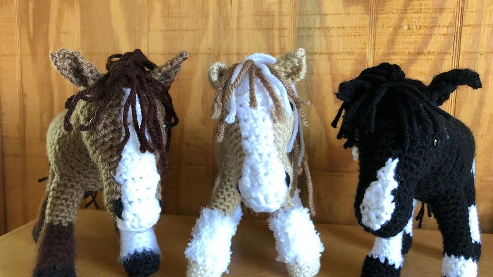 A handmade crocheted Replica of Equine Counselors