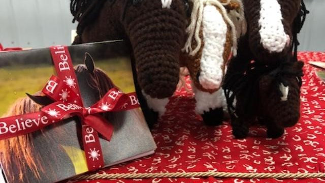 Replica of Equine Counselor and pack of greeting cards