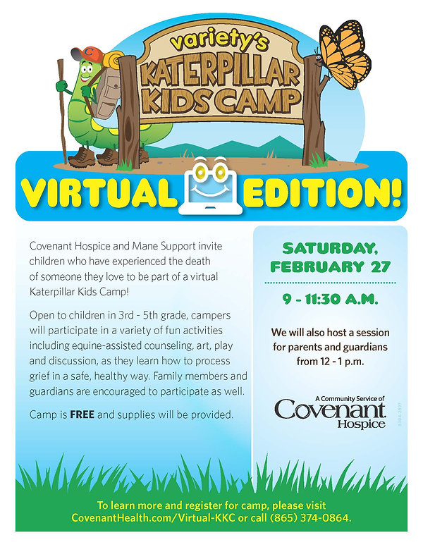 Katerpillar Camp Virtual Edition Flyer F