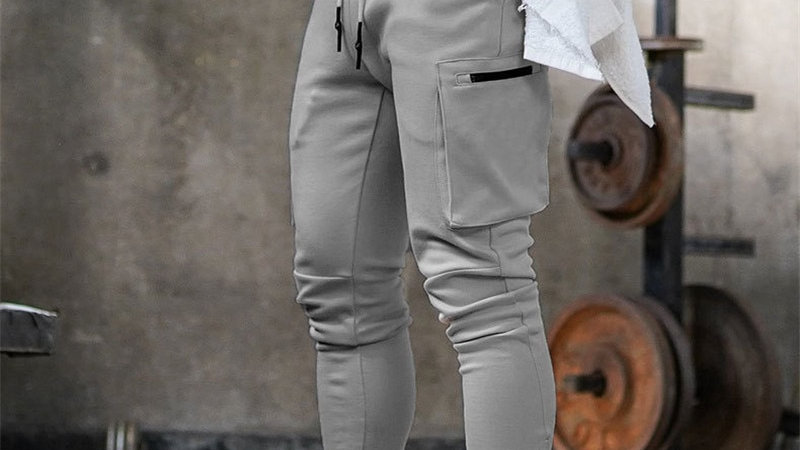 Mens Jogger  Sweatpants  Gyms Workout Fitness Cotton Trousers