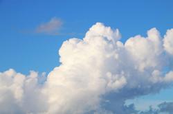 clouds blue skies
