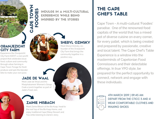 The Cape Town Chef's Table - a socially conscious event by Call 2 Care for YPO