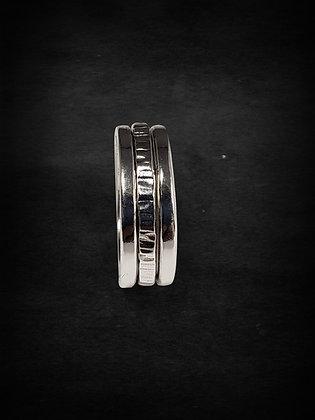 Silver Single  Meditation Ring
