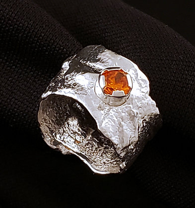 Distressed Band Orange Cubic Zirconia