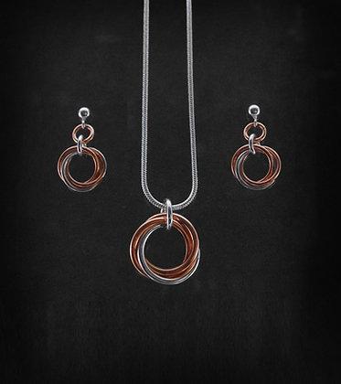 Silver & Rose Gold Mobius