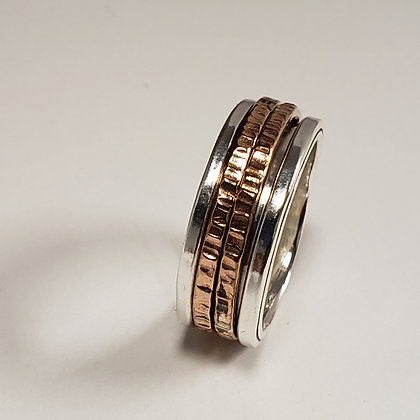 #D726 Meditation Ring, Double, Silver/Rose