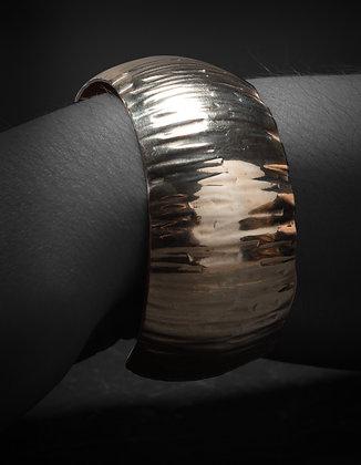 Silver 3cm Textured Cuff
