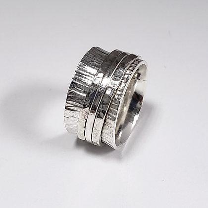 #A725 Meditation Ring, Anticlastic, Silver