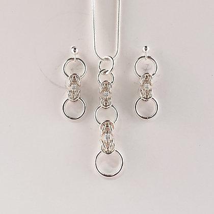 #S909 Danty Byzantine Set, Silver