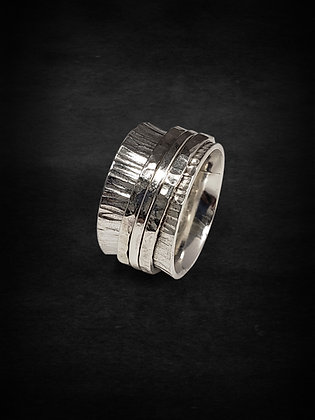 Silver Anticlastic Meditation Ring