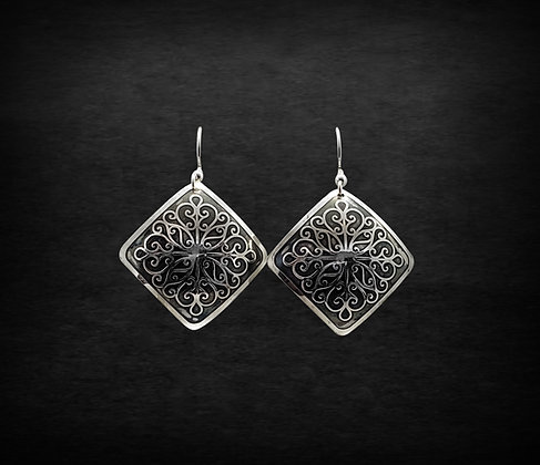 Filigree Square Earrings