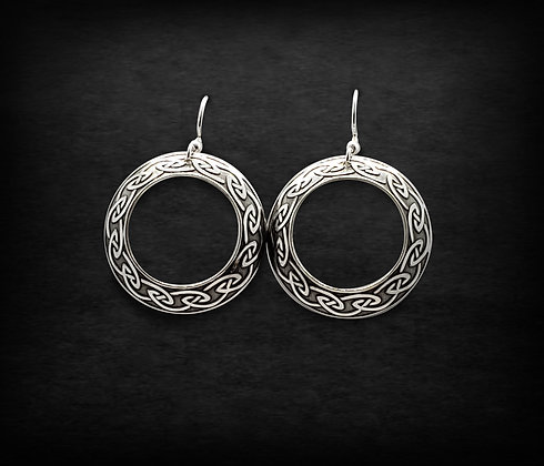 Celtic Hoop Earrings