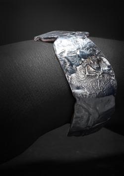 Cuff, Distressed 14k&Silver $445-1-2