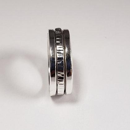 #S725 Meditation Ring, Single, Silver