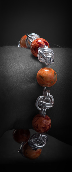 Barrel w-orange bead $71-2-2