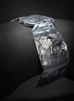 Cuff, Distressed 14k&Silver $445-2-2