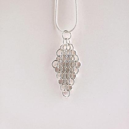 #P813 Euro 4 in 1 Pendant, Silver