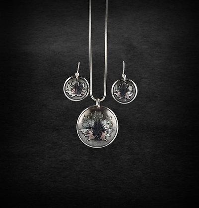 Maple Leaf Earring Pendant Set
