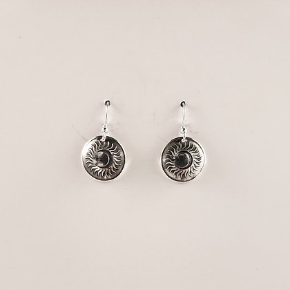 #E902 Sun/Moon/Star Earrings, Silver